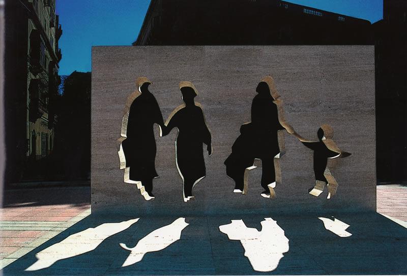 White-Shadows-sculpture-Sliema-Malta